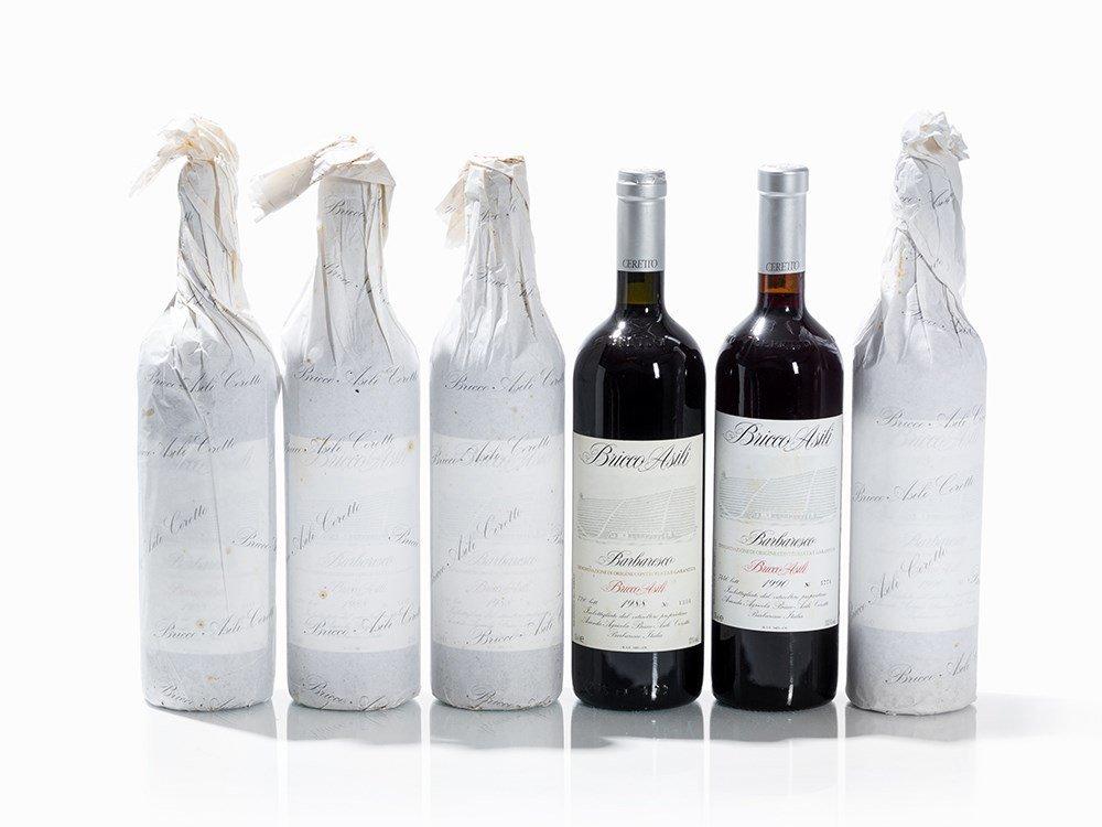 6 Bottles 1988/1990 Ceretto Barbaresco Bricco Asili
