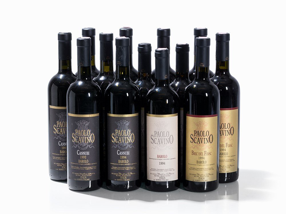 13 Bottles 1992/1994 Paolo Scavino Barolo, Piedmont