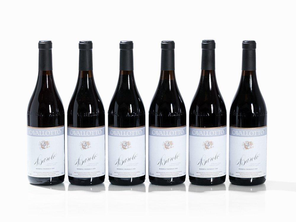 6 Bottles 1989 Cavallotto Barolo Riserva Vignolo,
