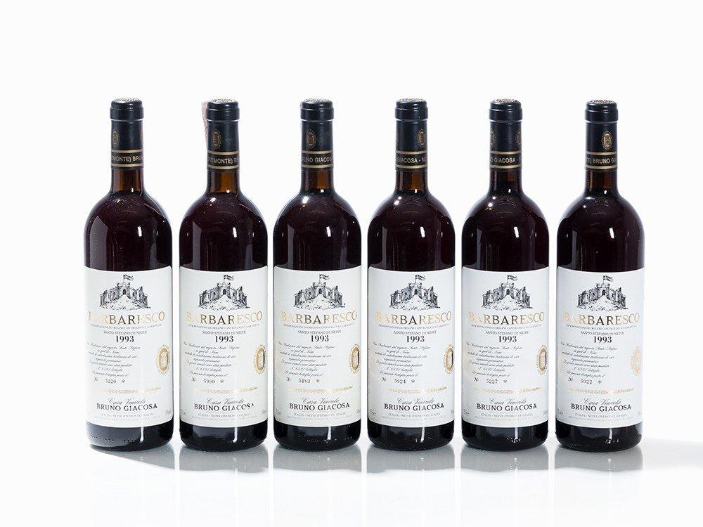6 Bottles 1993 Bruno Giacosa Barbaresco Santo Stefano