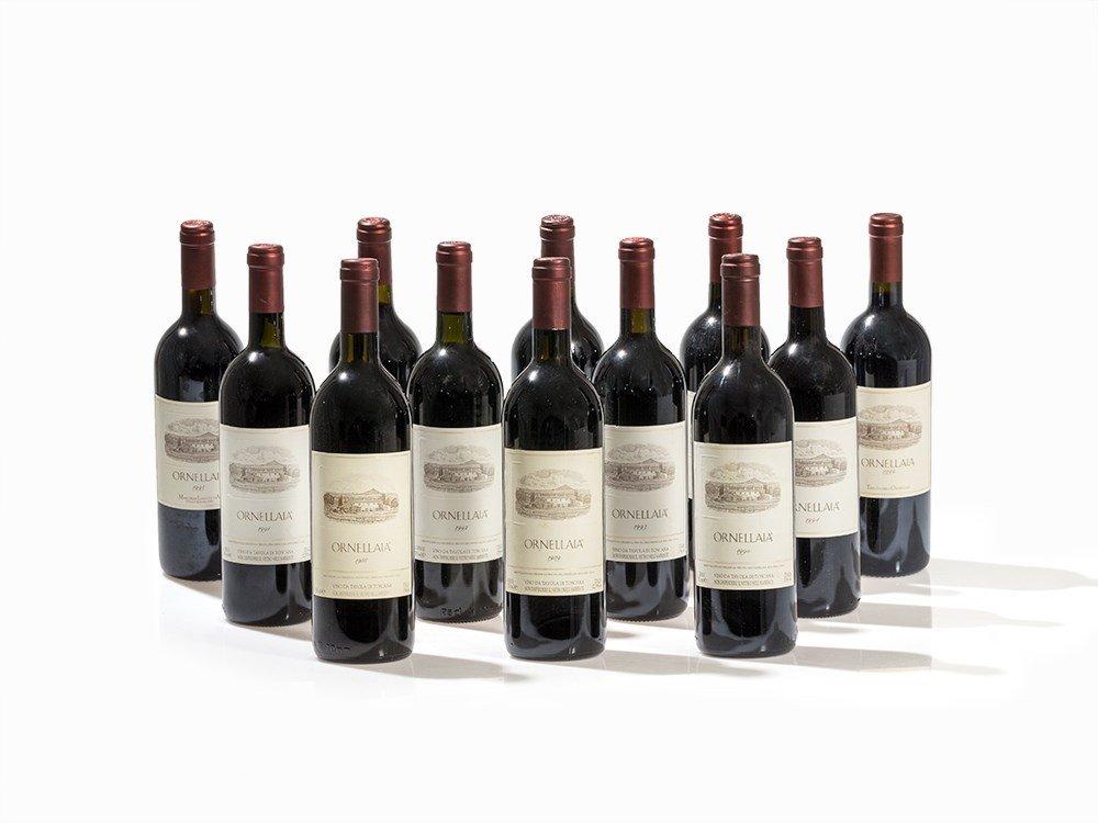 12 Bottles Ornellaia Vertical, 1988-1999 Vintages