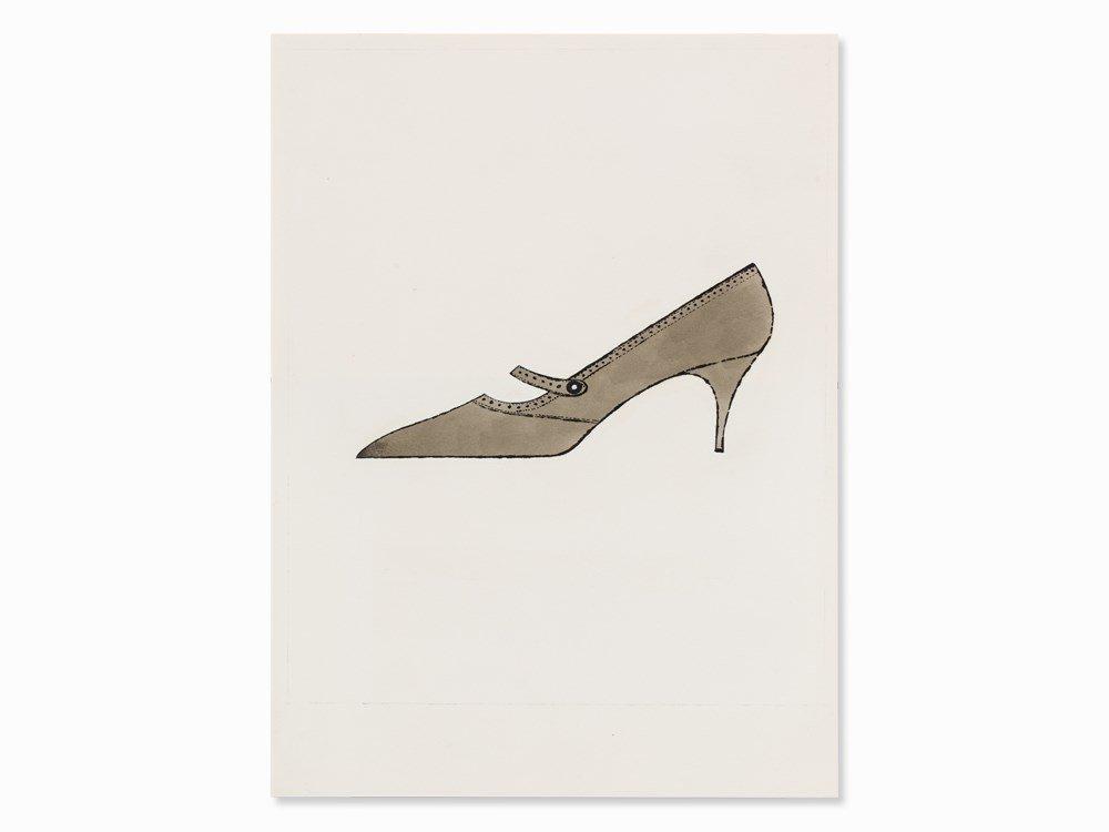 Andy Warhol, Brown Shoe, watercolor, c. 1954
