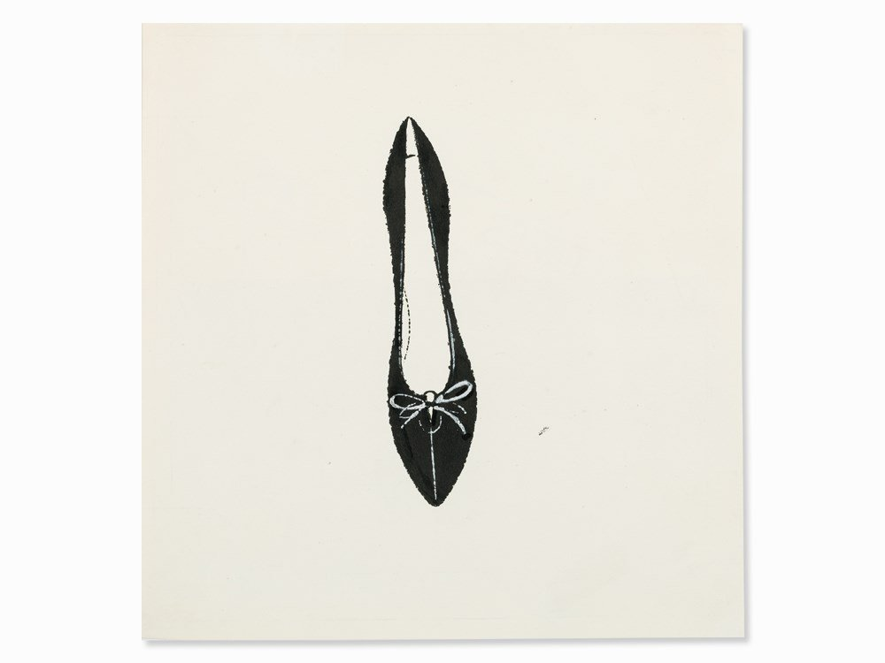 Andy Warhol, Shoe with Loop, India Ink, c. 1955