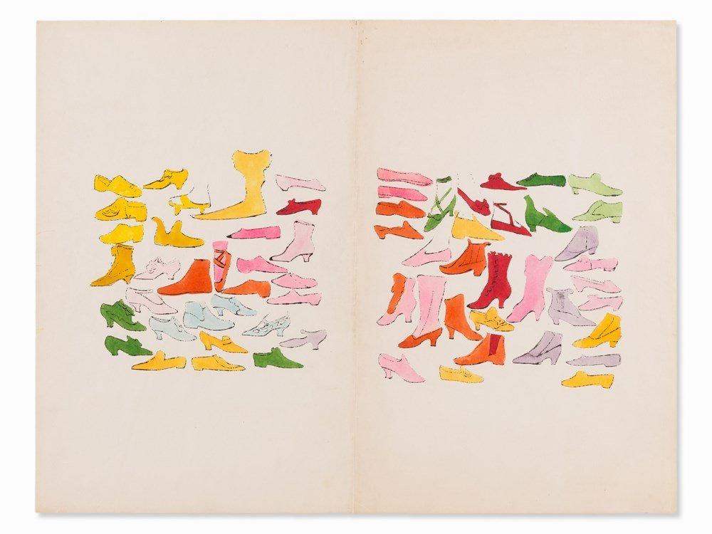 Andy Warhol, A la Recherche du Shoe Perdu, Lithograph,