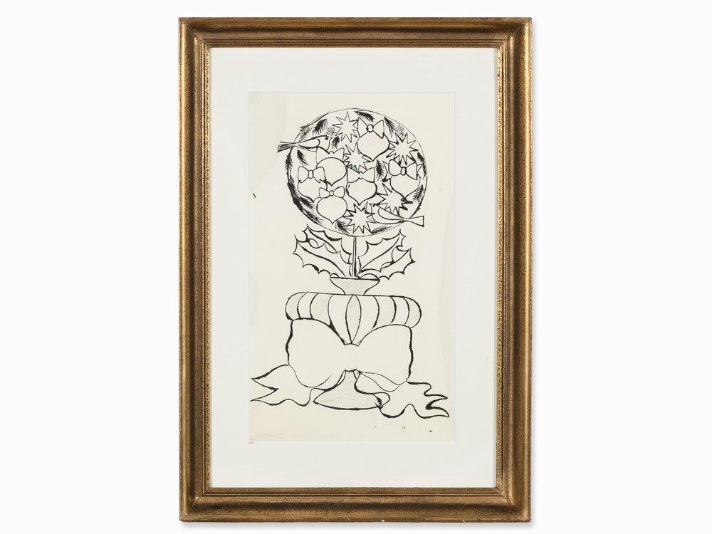 Andy Warhol (1928-1987), Christmas Topiary, Drawing, c.