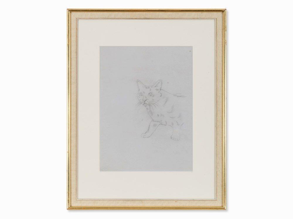 Andy Warhol, Cat (Sam), Pencil Drawing, c. 1950s