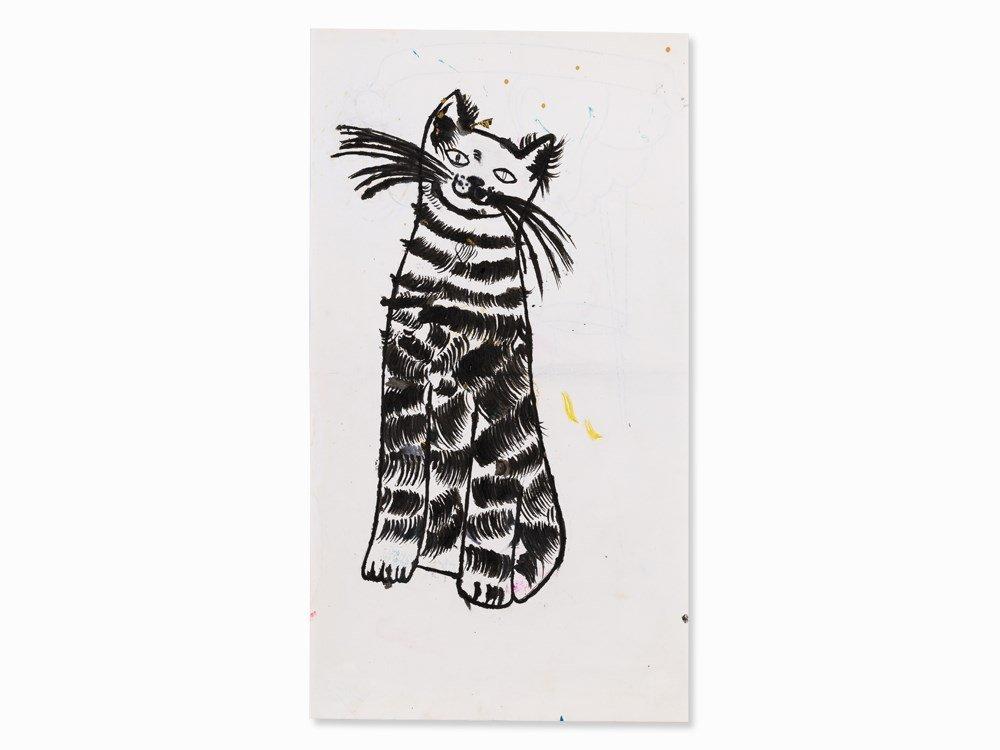Andy Warhol, Sam (Sitting), Ink Drawing, 1950s