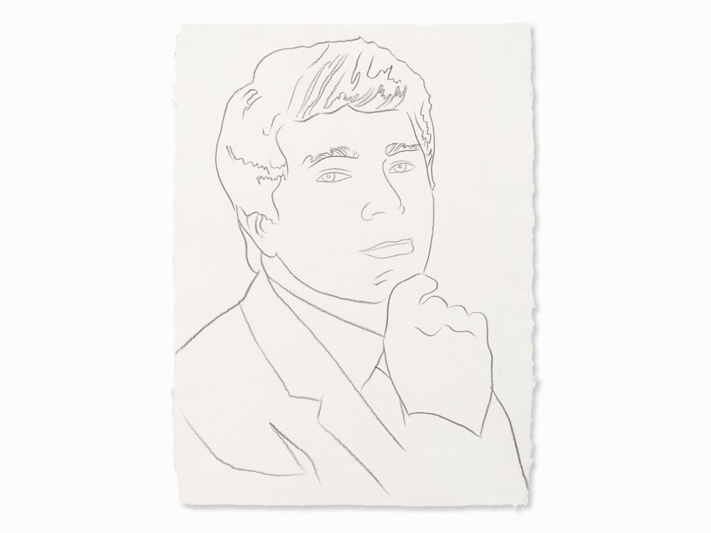 Andy Warhol, Frieder Burda, Pencil Drawing, c. 1982
