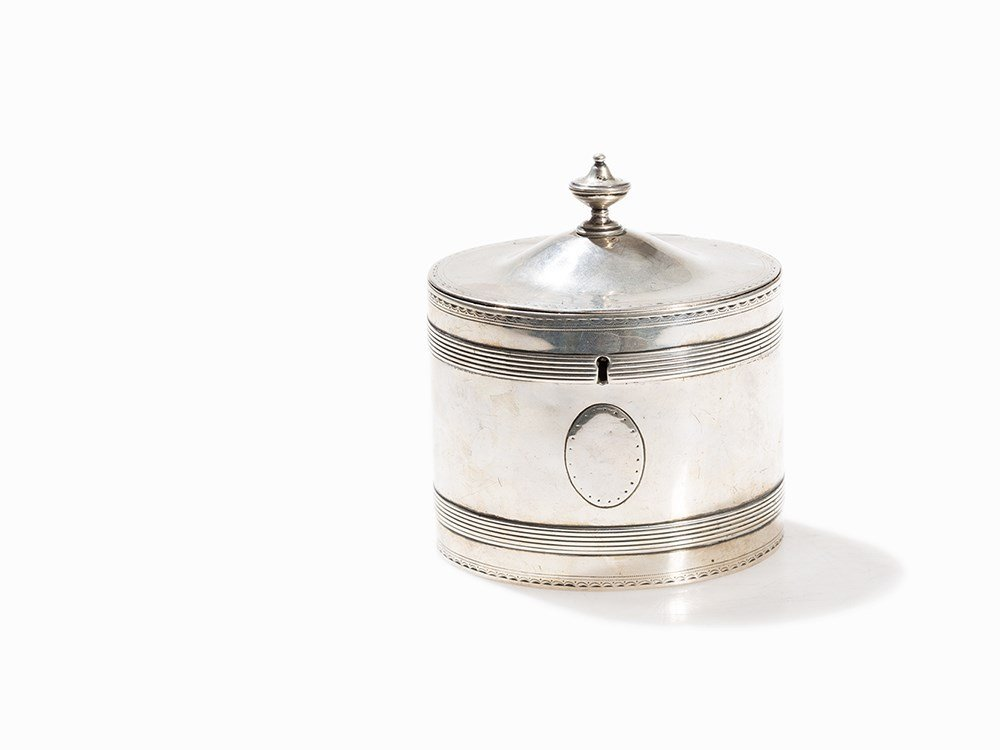 George III Silver Tea Caddy, London, 1787