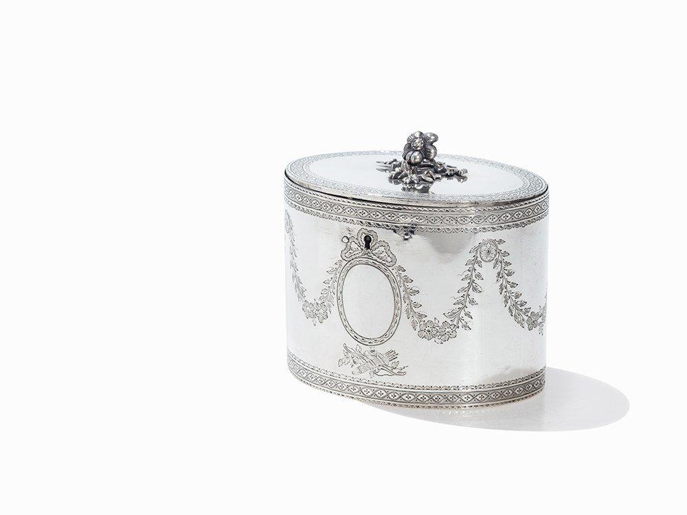 George III Silver Tea Caddy by James Phipps I, London,