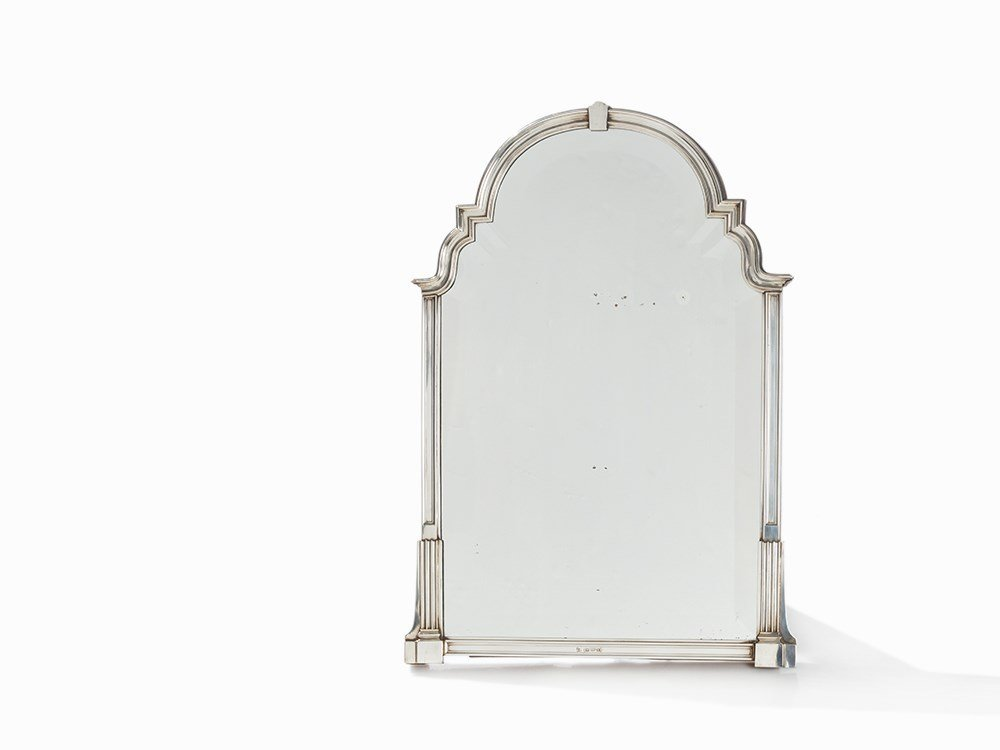 Mirror with Silver Mounting, Albert de Thomese, The