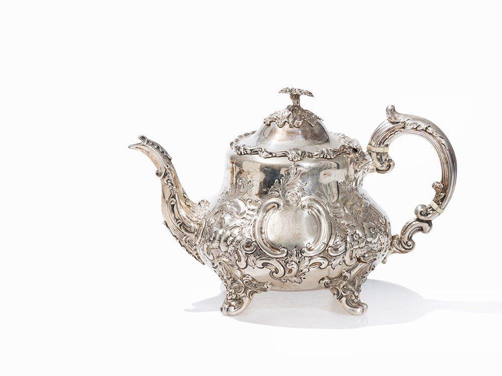 A Silver Teapot by Sibray, Hall & Co., London, 1886