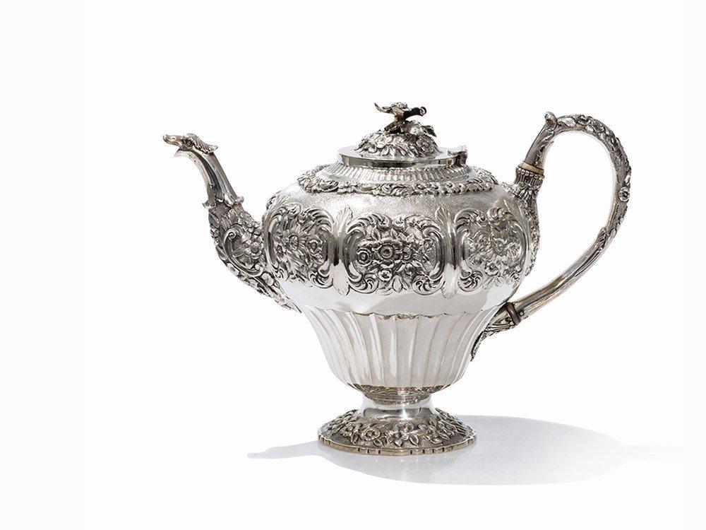 A William IV Silver Teapot by John Edward Terrey,