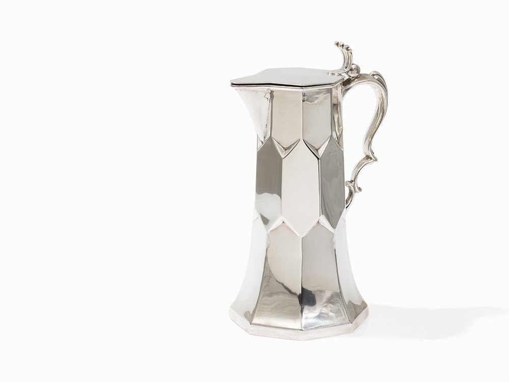 An Outstanding Silver Jug with Domb Décor, Copenhagen,