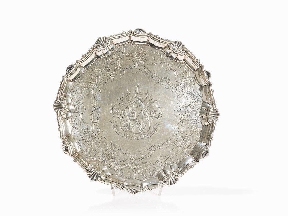 A George II Silver Salver, Thomas Farren, London, 1740