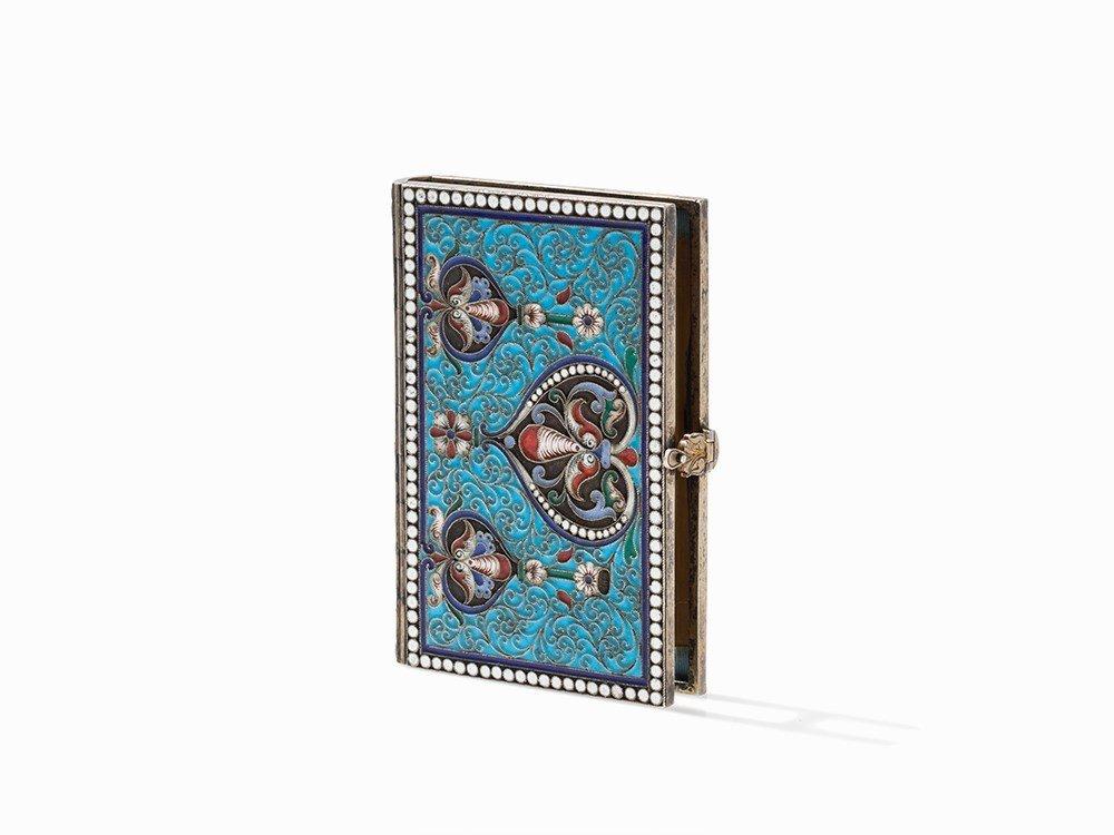 A Cloisonné Miniature Book Cover, Russia, Last Quarter