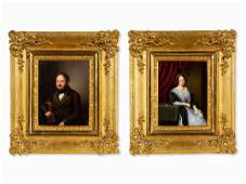 KPM, A porcelain portrait of Franz and Natalie Geiger,