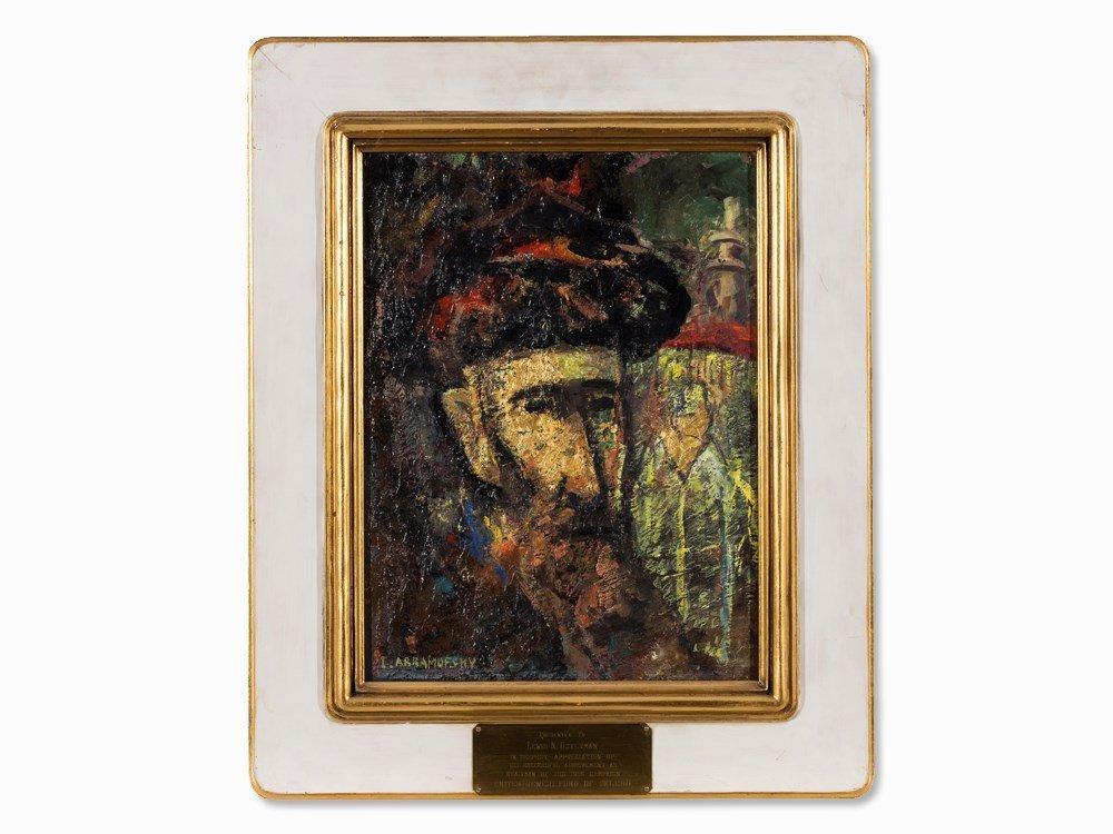Israel Abramofsky (1888-1975), The Rabbi, Oil painting