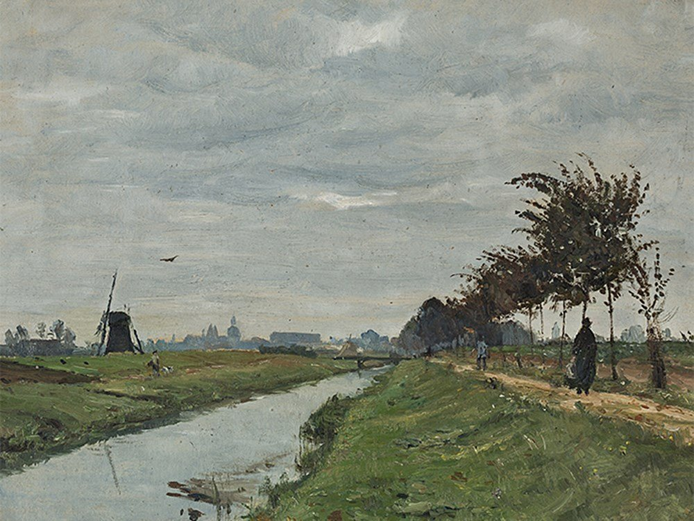 Otto Modersohn (1865-1943), View on Münster, Oil, 1887