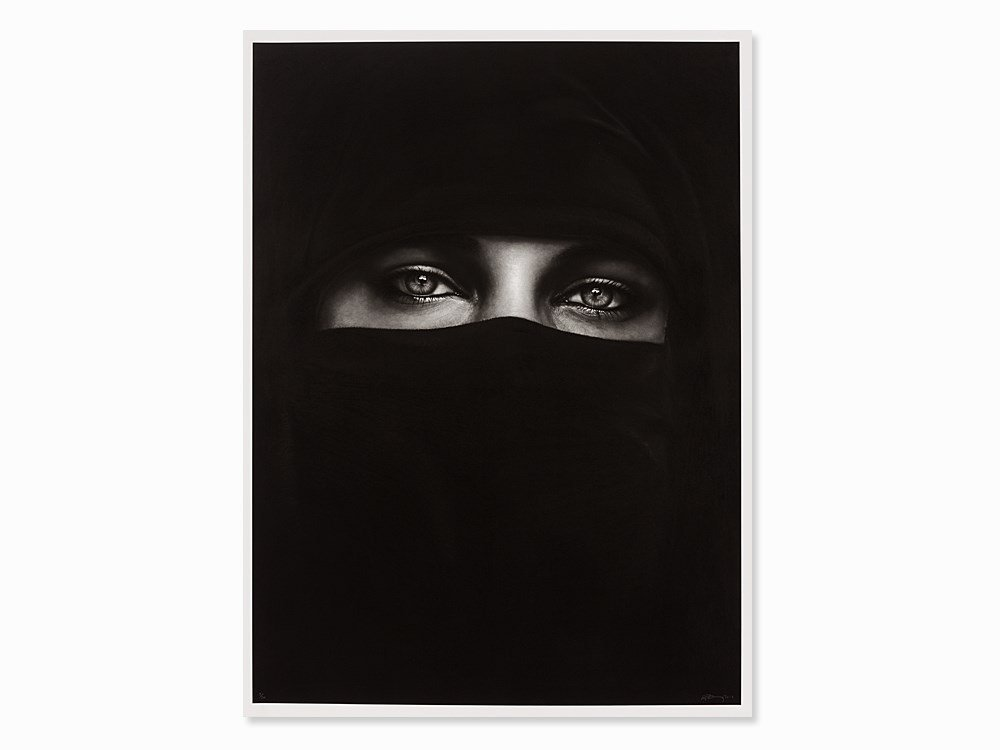 Robert Longo, Untitled (Burka), Pigment Print, 2013