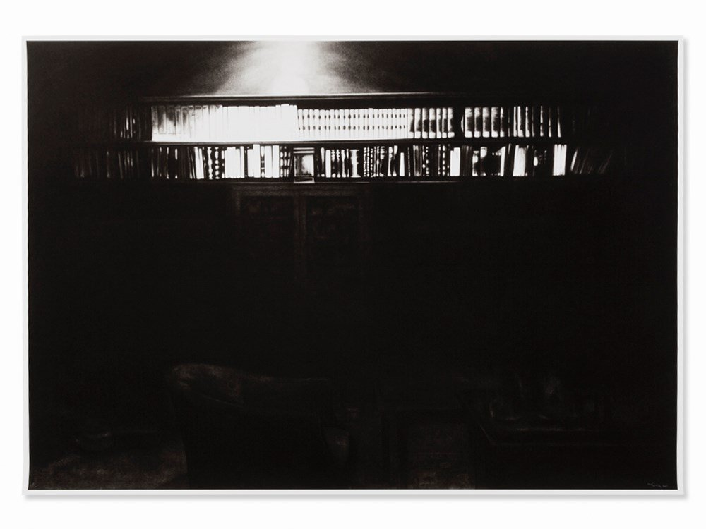 Robert Longo, Book Case in Study Room - The Freud
