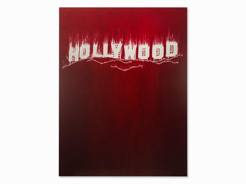 Gary Simmons, Hollywood, UV Pigment Print, 2013