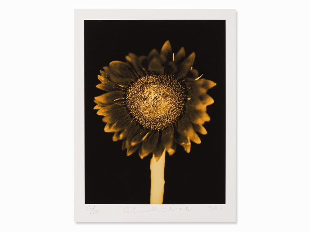 Chuck Close, Untitled (Sunflower), Pigment Print, 2011