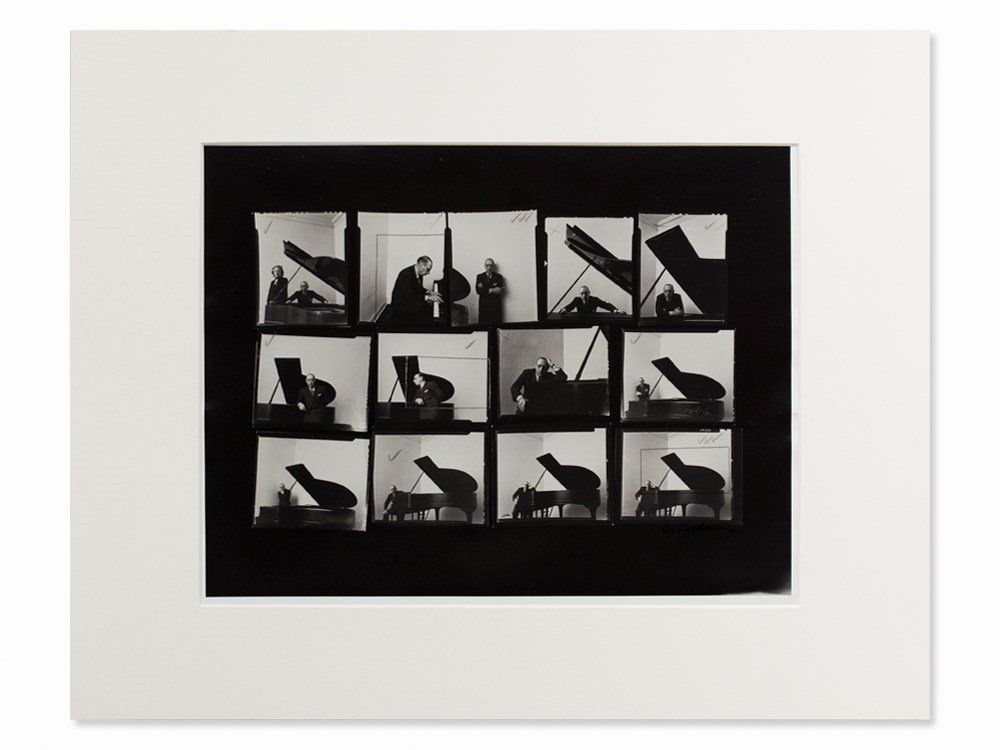 Arnold Newman, Stravinsky Contacts, Photograph,