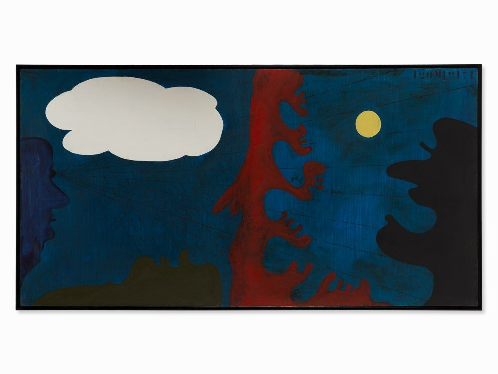 Daniel Argimón (1929-1996), Nit, Oil Painting, 1971