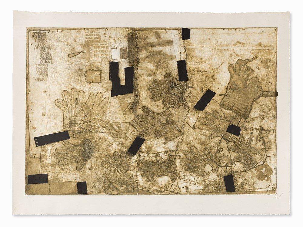 Antoni Clavé, 'Assemblage de Gants', Carborundum, 1976