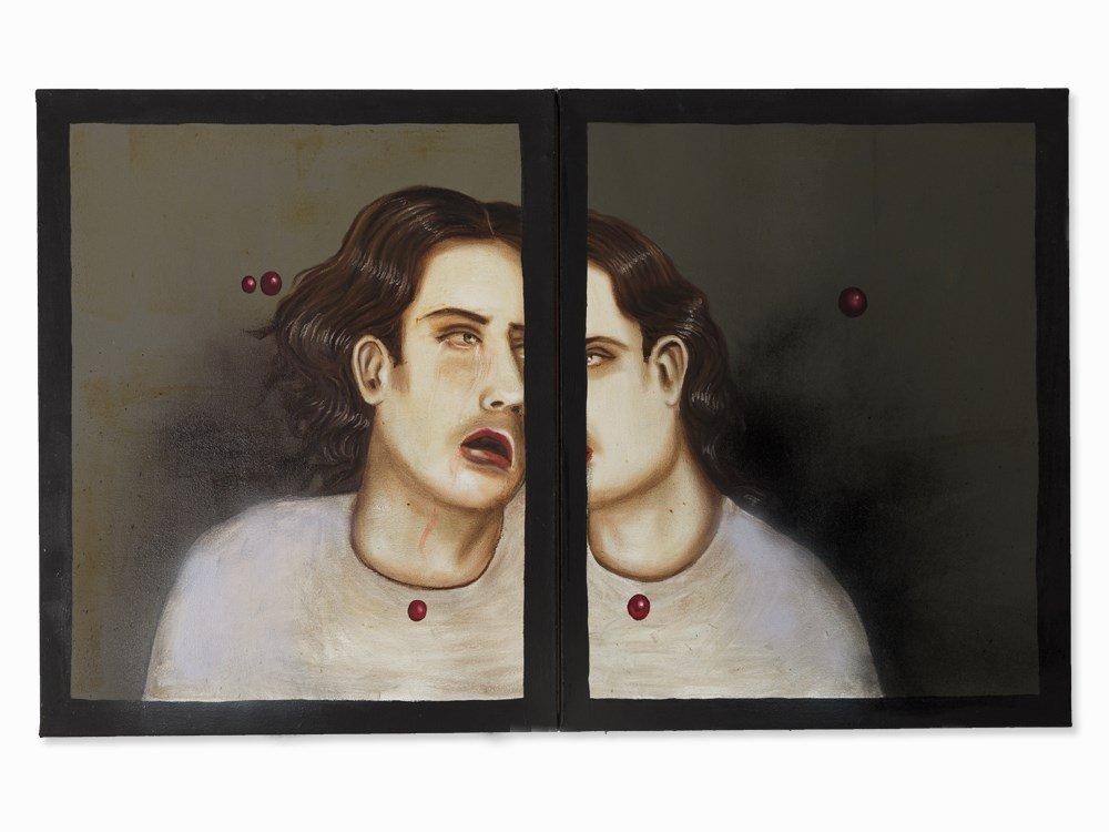 Julio Galán (1959-2006), Fascination, Diptych, Oil,