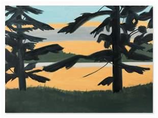 Alex Katz (b. 1927), Sunset 2, Oil Painting, 2008