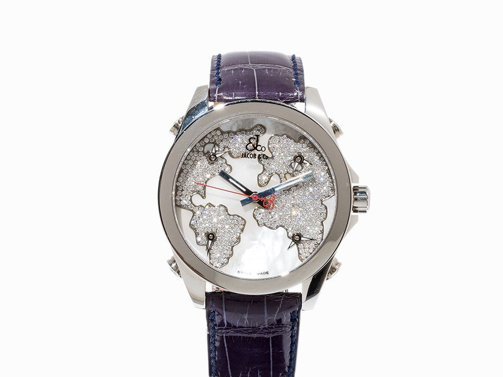 Jacob & Co. Five Time Zones Wristwatch, Switzerland,