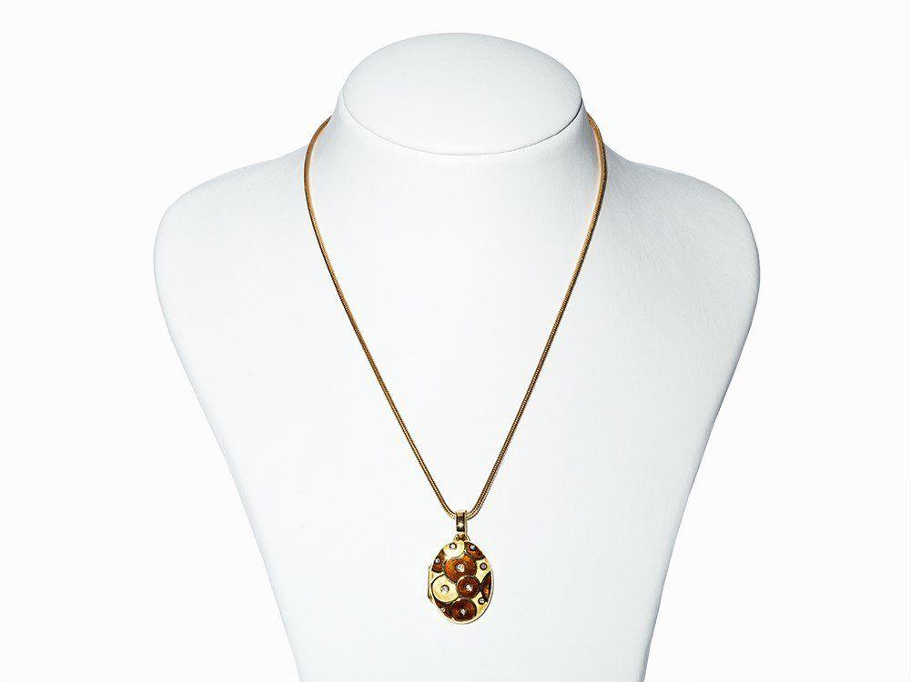 Fabergé Snake Necklace & Medallion, 18K Yellow Gold,