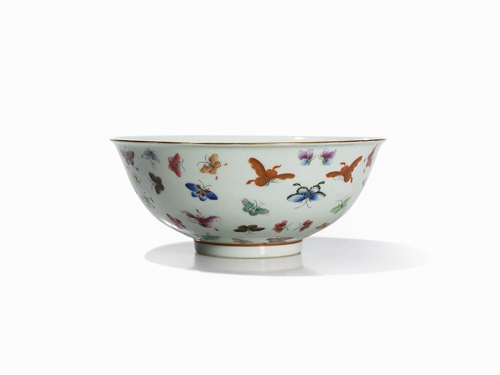 Bowl with Butterfly Décor, China, Guangxu Period