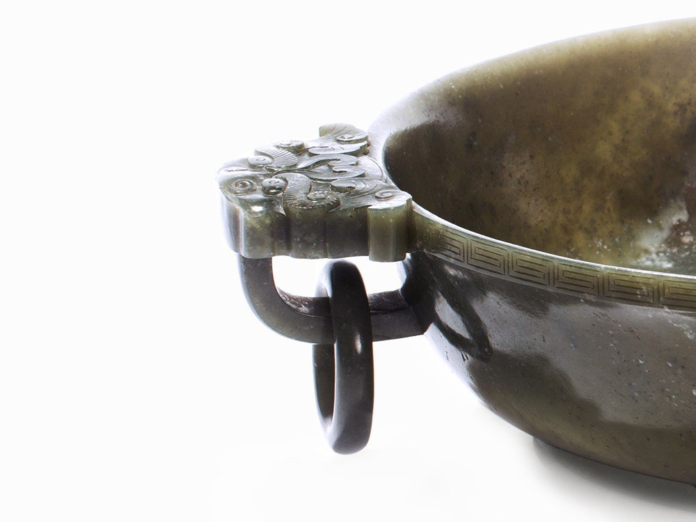 Large Imperial Jade Marriage Bowl, Qianlong Mark &