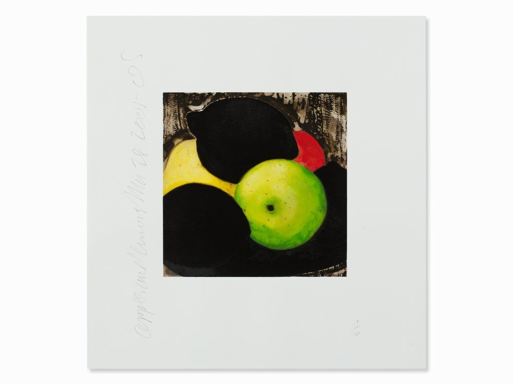 Donald Sultan, Apples and Lemons, Color Serigraph, 2005