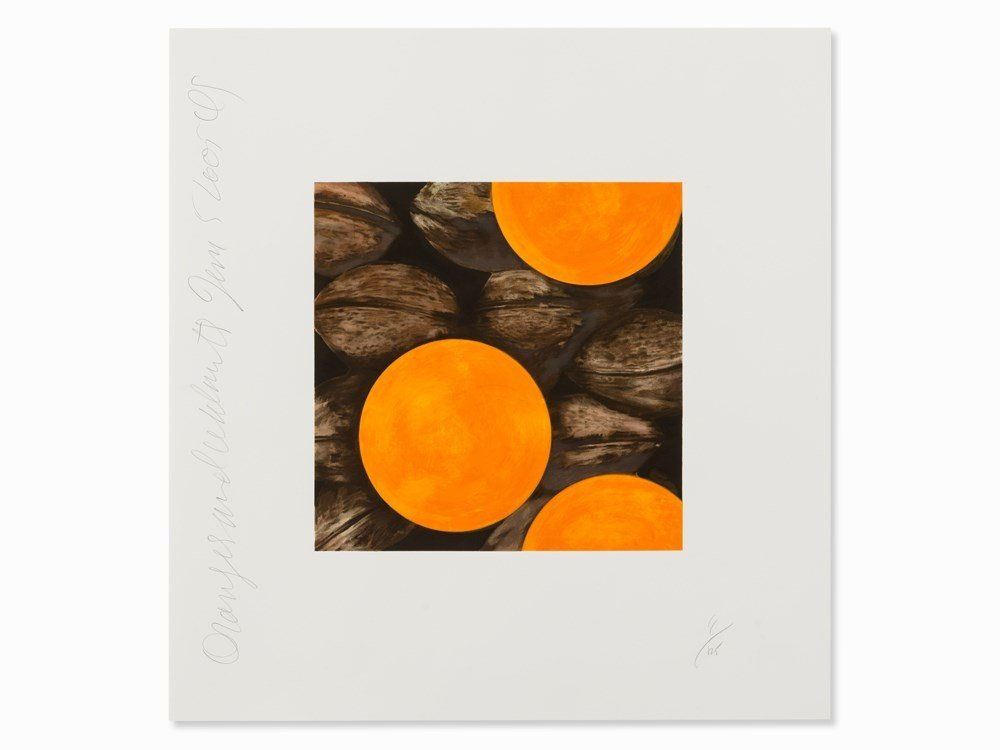 Donald Sultan, Oranges and Walnuts, Color Serigraph,