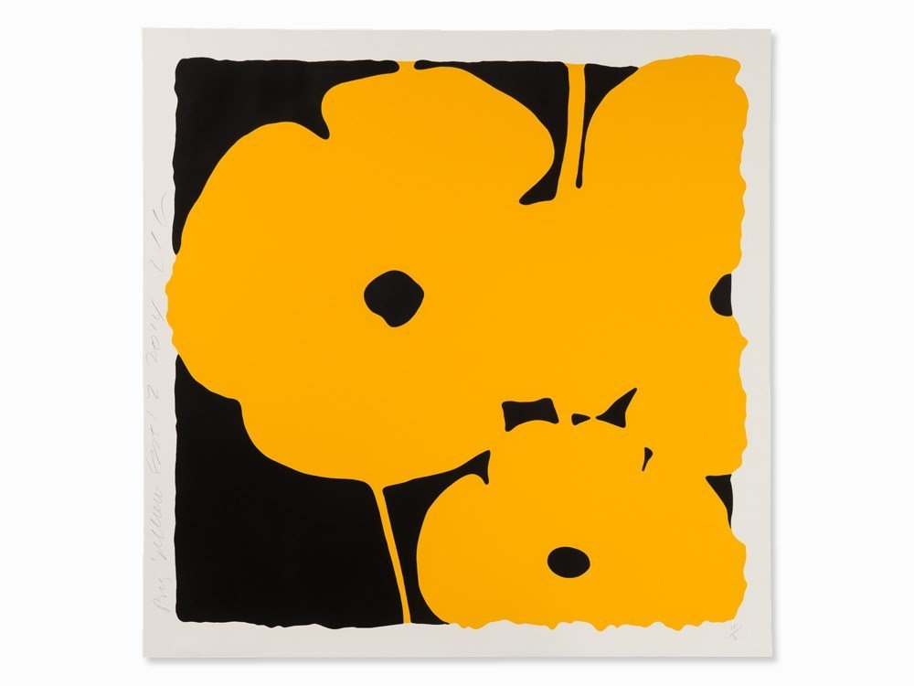 Donald Sultan, Big Poppies, 3 Serigraphs, 2014