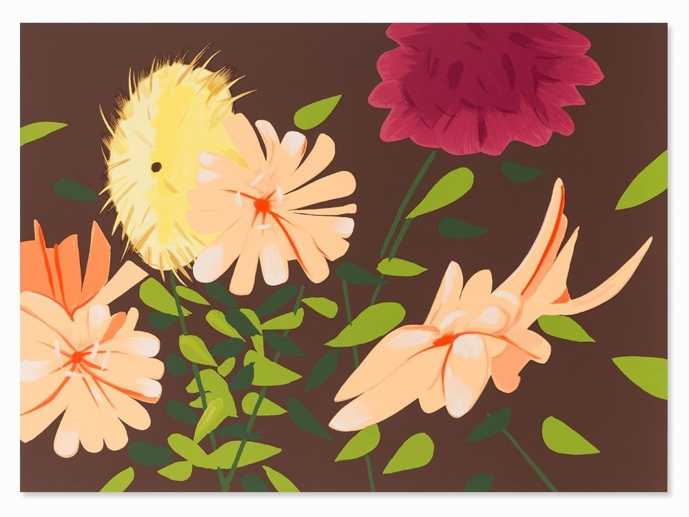 Alex Katz, Late Summer Flowers, Serigraph in Colors,