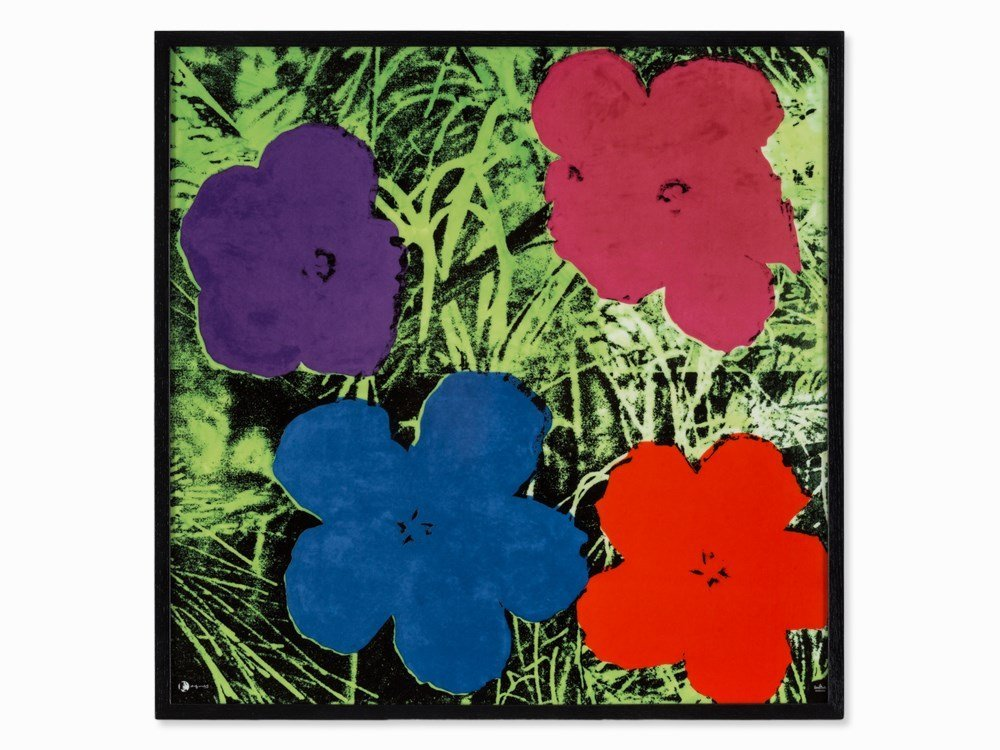 After Andy Warhol, Flowers, Porcelain, Wall Object,