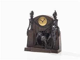 Goldscheider, Clock with Lenzkirch-Movement, Vienna,