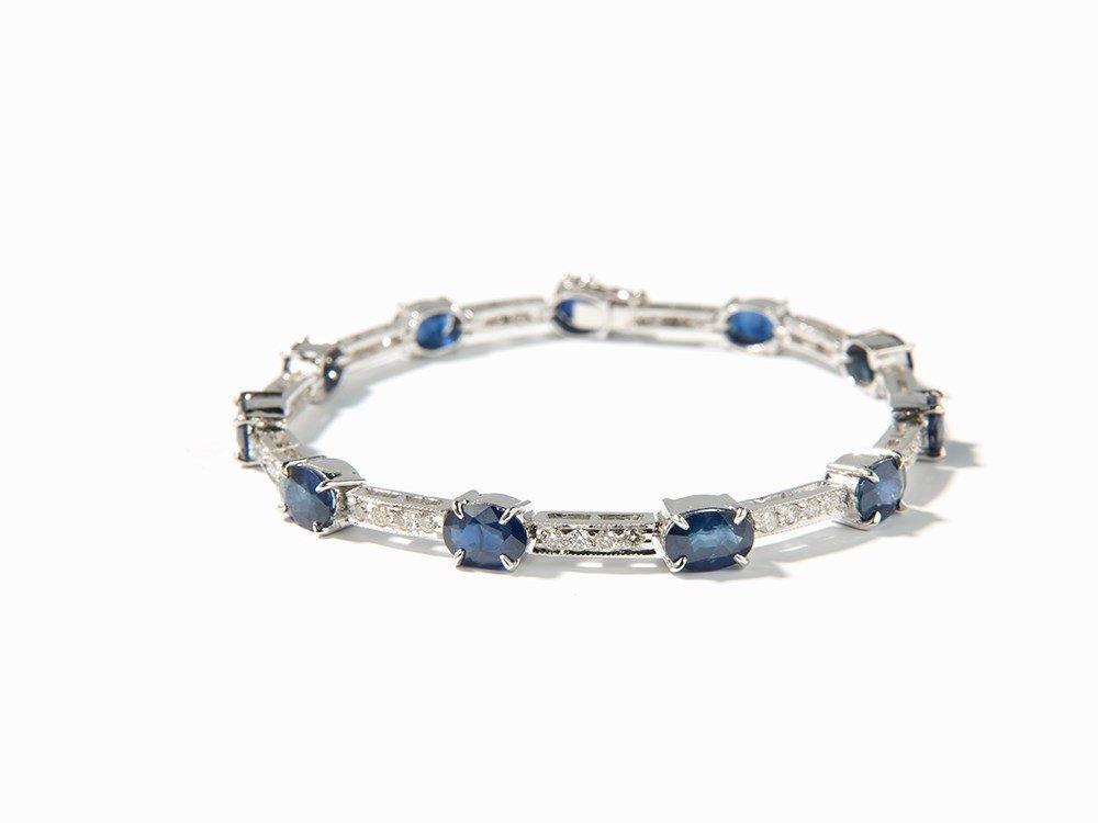 Bracelet, 11 Sapphires of 11 ct. and 44 Diamonds of c.