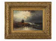 Franz Emil Krause c 18361900 Sea Rescue Oil