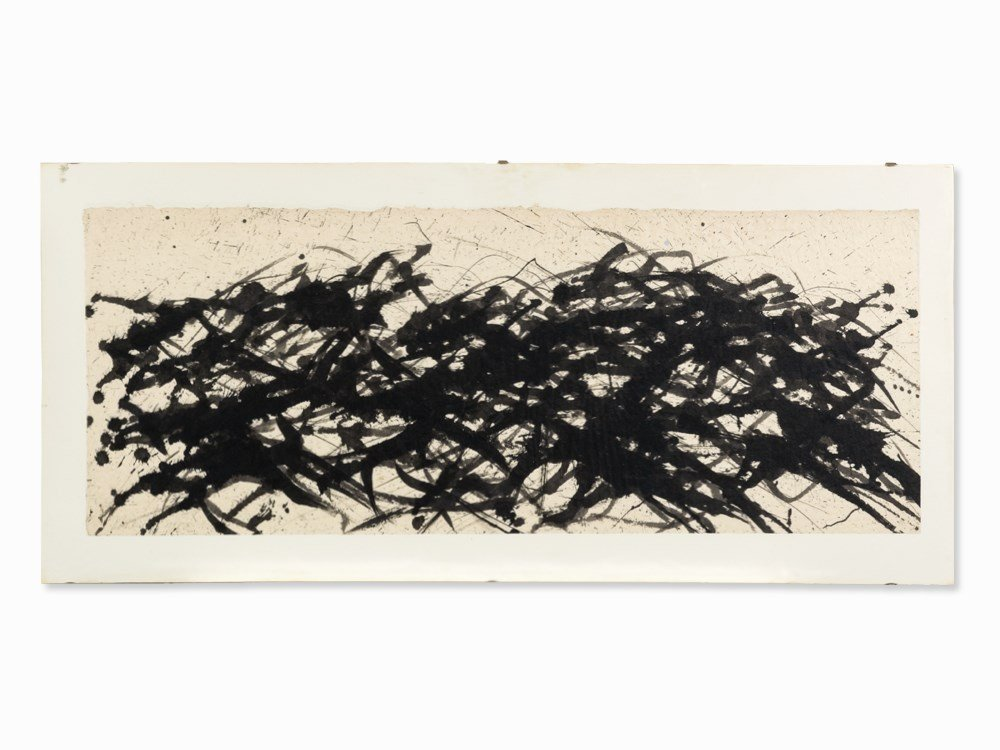 Max Uhlig, Untitled, Indian Ink Drawing, 1980