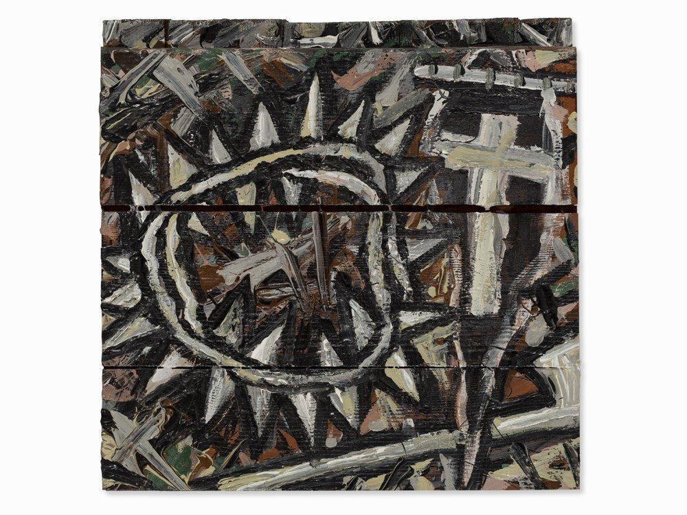 Wilhelm Jaeger, Wooden Object, 'Golgatha 1',