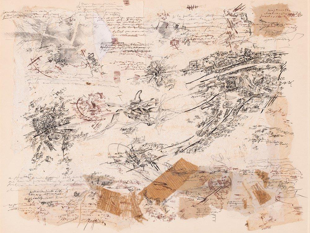 François Pourtaud, Lettering Collage, France, around
