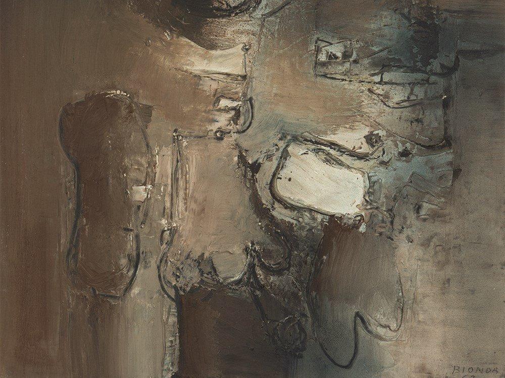 Mario Bionda, Abstract Oil Painting, 'Immagini', Italy,