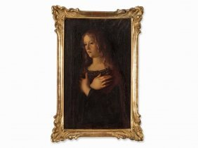 After Giovanni Bellini, Mary Magdalene, Oil, 19th
