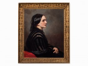 German Portrait-painter, Clara Schumann, Oil Painting,